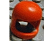 Part No: 193bu  Name: Minifigure, Headgear Helmet Old with Thick Chin Strap - Visor Dimple Presence Undetermined