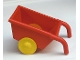 Part No: 2292c01  Name: Duplo Wheelbarrow with Yellow Wheels