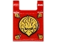 Part No: 2335pb126  Name: Flag 2 x 2 Square with Gold Chima Eagle Emblem and Gold Corners Pattern (Sticker) - Set 70141