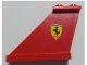 Part No: 2340pb046L  Name: Tail 4 x 1 x 3 with Ferrari Logo Pattern on Left Side (Sticker) - Set 8654
