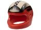 Part No: 2446pb04  Name: Minifigure, Headgear Helmet Standard with Checks and Black/White Fade Pattern