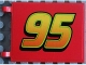 Part No: 2525pb005  Name: Flag 6 x 4 with '95' Pattern (Sticker) - Set 8484