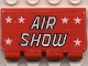 Part No: 2873pb02  Name: Hinge Train Gate 2 x 4 with White Stars and 'AIR SHOW' Pattern (Sticker) - Set 6345