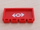 Part No: 2873pb07  Name: Hinge Train Gate 2 x 4 with Train Logo White Pattern (Sticker)