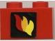 Lot ID: 166677078  Part No: 3004pb024  Name: Brick 1 x 2 with Classic Fire Logo Pattern (Sticker) - Set 6685