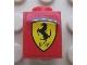 Part No: 3005pb025  Name: Brick 1 x 1 with Ferrari Logo Pattern (Sticker) - Set 8652