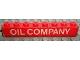 Part No: 3008pb099  Name: Brick 1 x 8 with White 'OIL COMPANY' Pattern (Sticker) - Set 373-1