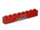 Part No: 3008pb138  Name: Brick 1 x 8 with Ferrari Logo and 'SF SCUDERIA FERRARI' Pattern (Sticker) - (Sets 8153 / 8155)