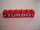 Part No: 3009pb060  Name: Brick 1 x 6 with White 'TURBO' and Stars Pattern