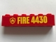 Part No: 3009pb208  Name: Brick 1 x 6 with Yellow Fire Logo Badge and 'FIRE 4430' Pattern (Sticker) - Set 4430