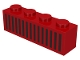 Part No: 3010p04  Name: Brick 1 x 4 with Black Grille Pattern - 15 Bars