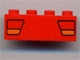 Part No: 3010pb003  Name: Brick 1 x 4 with Car Taillights Red and Orange Pattern