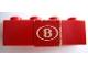 Part No: 3010pb087  Name: Brick 1 x 4 with 'B' Pattern (Sticker) - Set 164