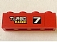 Part No: 3010pb124R  Name: Brick 1 x 4 with '7 TURBO RACER' Pattern Model Right (Sticker) - Set 7801