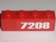 Part No: 3010pb130L  Name: Brick 1 x 4 with '7208' Pattern at Right Edge (Sticker) - Set 7208