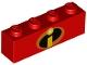 Part No: 3010pb231  Name: Brick 1 x 4 with Incredibles Symbol Pattern
