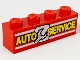 Part No: 3010px5  Name: Brick 1 x 4 with 'AUTO SERVICE' and Wrench Pattern