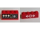 Part No: 3037pb040  Name: Slope 45 2 x 4 with Black Instrument Panel and White Train Logo Pattern (Stickers) - Set 60098
