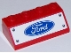 Part No: 3037pb043  Name: Slope 45 2 x 4 with Ford Logo and Four Rivets on White Background Pattern (Sticker) - Set 75875