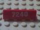 Part No: 30413pb015  Name: Panel 1 x 4 x 1 with White '7240' Pattern (Sticker) - Set 7240