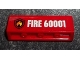 Part No: 30413pb032  Name: Panel 1 x 4 x 1 with Black and Yellow Fire Logo Badge and 'FIRE 60001' on Clear Background Pattern (Sticker) - Set 60001