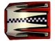 Part No: 30602pb006  Name: Slope, Curved 2 x 2 Lip, No Studs with Checkered Stripe Pattern (Set 8350)