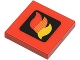 Part No: 3068bp57  Name: Tile 2 x 2 with Classic Fire Logo Small Pattern