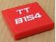 Part No: 3068bpb0333  Name: Tile 2 x 2 with White 'TT 8154' Pattern (Sticker) - Set 8154