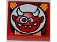 Part No: 3068bpb0654  Name: Tile 2 x 2 with Crazy Demon Pattern (Sticker) - Set 9092
