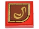 Part No: 3068bpb0794R  Name: Tile 2 x 2 with Gold Swirl on Brown Right Rounded Background Pattern (Sticker) - Set 79108