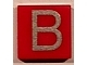 Part No: 3070bpb010  Name: Tile 1 x 1 with Letter Capital B Pattern