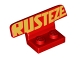 Part No: 30925pb03  Name: Vehicle, Spoiler 1 x 4 on 1 x 2 Base with Gold 'RUSTEZE' Pattern