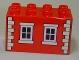 Part No: 31111pb033  Name: Duplo, Brick 2 x 4 x 2 with Pink 4 Pane Windows and Tan Brick Pattern