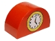 Part No: 31213pb002  Name: Duplo, Brick 2 x 4 x 2 Curved Top with Clock Pattern