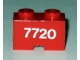 Part No: 3134pb01  Name: Brick, Modified 1 x 2 with Cable Holding Cutout with 7720 Pattern (Sticker) - Set 7720