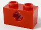 Part No: 32064b  Name: Technic, Brick 1 x 2 with Axle Hole - X Opening