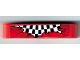 Part No: 32316pb001  Name: Technic, Liftarm 1 x 5 Thick with Checkered Flag Pattern (Sticker) - Set 8242