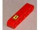 Part No: 32316pb008  Name: Technic, Liftarm 1 x 5 Thick with Ferrari Logo Pattern (Sticker) - Set 8653