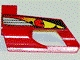 Part No: 32528pb01  Name: Technic, Panel Fairing # 6 Small Short, Large Hole, Side B with Driver in Red Helmet Pattern (Sticker) - Set 8241