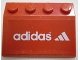 Part No: 3297pb012  Name: Slope 33 3 x 4 with Adidas Logo Pattern (Sticker) - Set 3426