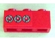 Part No: 3622pb037  Name: Brick 1 x 3 with 3 Taillights Pattern Model Left (Sticker) - Set 8486