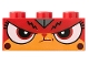 Part No: 3622pb098  Name: Brick 1 x 3 with Cat Face Angry Face, Mouth Closed (Angry Kitty) Pattern