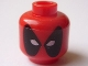 Part No: 3626bpb0703  Name: Minifigure, Head Male Mask Black with White Eye Holes Pattern (Deadpool) - Blocked Open Stud