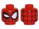Part No: 3626cpb1534  Name: Minifig, Head Alien with Spider-Man Black Web and Right Eye Wink Pattern - Stud Recessed