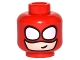 Part No: 3626cpb1543  Name: Minifigure, Head Balaclava with Round White Eye Holes over Light Flesh Face and Small Crooked Smile Pattern - Hollow Stud