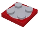 Part No: 3680c02  Name: Turntable 2 x 2 Plate, Complete Assembly with Light Bluish Gray Top
