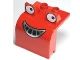 Part No: 40647pb01  Name: Duplo Bulldozer Front with Eyes Looking Left and Smile Pattern (Muck)
