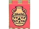 Part No: 4066pb097  Name: Duplo, Brick 1 x 2 x 2 with Indian Pottery Pattern