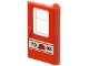 Part No: 4182pb017  Name: Door 1 x 4 x 5 Train Right with Red Construction Helmet and '7905' Pattern (Sticker) - Set 7905
