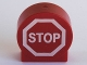 Part No: 41970px1  Name: Duplo, Brick 1 x 3 x 2 Round Top Road Sign with 'STOP' in Octagon Pattern